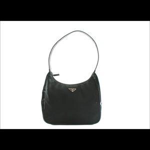 Vintage Prada Tessuto Shoulder Bag with Patent